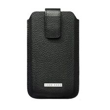 Original Hugo Boss Black Grain Leather Case Cover for Samsung S5660 Galaxy Gio