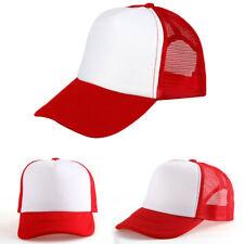 Hombre Mujer Gorras de Béisbol Malla Golf Vintage Ajustable Sombrero Multicolor