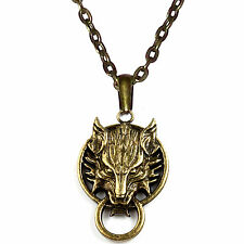WOLF Lupo Necklace Necklace Men's Women's bronze FINAL FANTASY jewelry new