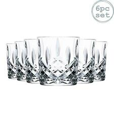 6x Whiskey Tumblers Set RCR Crystal Cut Glass Glasses DOF Old Fashioned 340ml