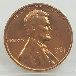 1961 Lincoln Cent / Penny | BU Copper 1 c | Memorial | RED | Free Shipping