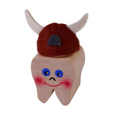 """KERSA 42040 Tooth Box """" VIKING SNORRE """" in Shape Wood Fairy NEW!#"""