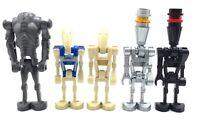 LEGO LOT OF 5 DROID MINIFIGURES STAR WARS ROBOT SUPER BATTLE & SERVICE BOT FIGS