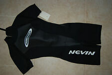 New NWT Black  NEVIN Shortie Wetsuit Woman's Large