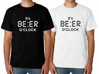 Mens IT'S BEER O'CLOCK Funny T Shirt Novelty Joke Gift Him Dad Birthday Slogan