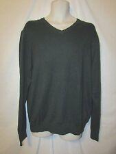 mens izod fieldhouse V-neck sweater L nwt $55 darkest spruce green