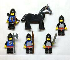 LEGO Castle 80's Black Falcon Knights MINIFIGURE lot, 6074, 6030 horse