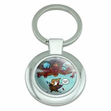 Trump Trade War with China Red Dragon Classy Round Plated Metal Keychain