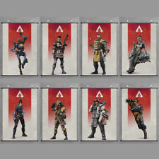 Legends Scroll Poster Game Characters Print Cloth Wall Art Decor For APEX
