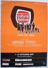 MARRICKVILLE CULTURAL FESTIVAL - SYDNEY SEPTEMBER 2007 - ORIGINAL PROMO POSTER
