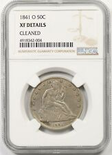 1841-O 50C NGC XF Details (Cleaned) Liberty Seated Half Dollar