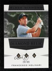 2021 Artifacts Black Diamond Relics Stars Triple 29/49 Francesco Molinari Rookie