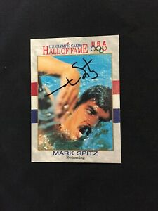 Mark Spitz Signed Autographed Olympic Hall Of Fame Card