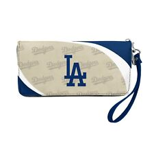 Los Angeles Dodgers Ladies Women's Curved Zipped Wallet Organizer Shell NWT