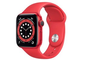 APPLE WATCH SERIES 6 GPS 40 IT IMPERMEABILE CINTURINO SPORT GOMMA RED PRODUCT
