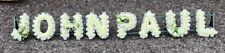 8 LETTER TRIBUTE FRAME - Artificial funeral flowers - any colour - any word