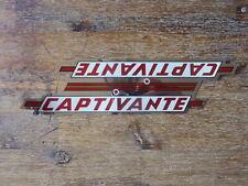 Captivante Vintage 1 Stickers bike / 1 autocollant velo