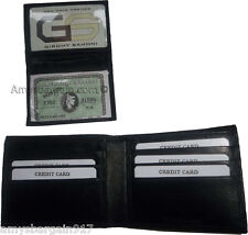 Man's wallet: Genuine Lambskin Leather wallet, 2 billfolds ID 6 cards slots BN*