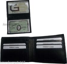 Man's wallet: Genuine Lambskin Leather wallet, 2 billfolds ID 6 cards slots BN*