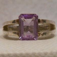 Vintage Antique Estate~CNA Amethyst 925 Sterling Silver Ring Size 5