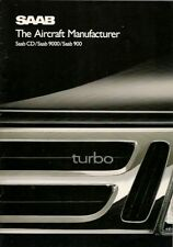 Saab 1988-89 UK Market Sales Brochure 900 9000 CD
