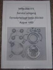 Reparaturanleitung Dynastartanlage BMW ISETTA auch Goggo BMW 600 NSU Prinz