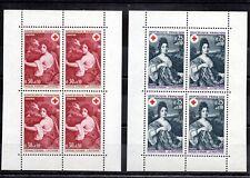 FRANCE blocs de 4 timbres neufs XX provenant du Carnet croix rouge 1968