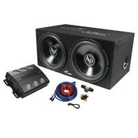 "Audiopipe Super Bass Combo pack 600W Max Dual 12"" Loaded Box Amp Amp APSB1299PP"
