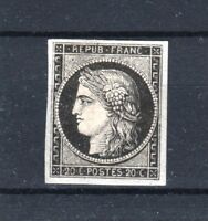 "FRANCE STAMP TIMBRE YVERT N° 3a "" CERES 20c NOIR SUR BLANC "" NEUF x TB T131"