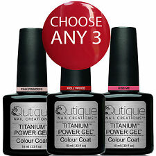 QUTIQUE Gel Nail Polish Pack/Kit/Set-ANY 3 Colours-Lasts 14+ Days, Salon Quality