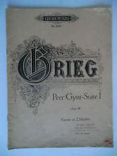 Partition alt partitur sheet music = Briec de Peer Gynt-Suite I