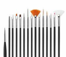 15 PCS Nail Paint Brush Set Art Polish Painting Drawing Dotting Manicure Tools