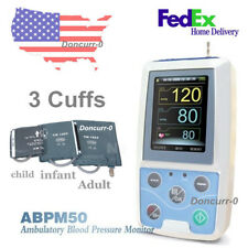 US Shipping  AMBULATORY DYNAMIC Contec ABPM50 BLOOD PRESSURE MONITOR +3CUFFS