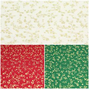 "100% Premium Cotton Poplin Collection Mistletoe Vines Fabric 44"" Wide"