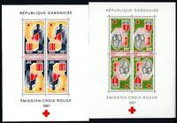 Gabun MiNr. Block 6-7 postfrisch MNH Rotes Kreuz (C385