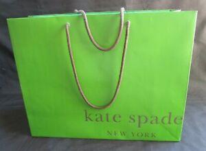 "Kate Spade empty green shopping bag 16"" x 12.5"" x 6"""