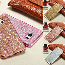 Lujo Bling Glitter diamante suave TPU Funda Carcasa para iPhone 7 Plus / Samsung