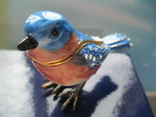 Blue Bird ~Lucy ~Bejeweled & Enamel Trinket Box 62681