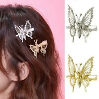 Gold Butterfly Hairpin Gold Hair Clip Accessories Womens Wedding Jewelry Gifts