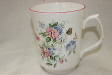 Mug Cup Tasse à café Jason Fine Bone China Floral Butterfly Decoration Pink Rim