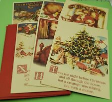 Artis - Vintage - The Night Before Christmas Greeting Cards - Set of Six