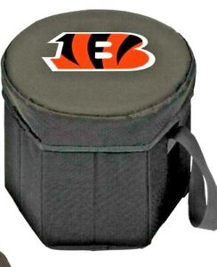 NFL Cincinnati Bengals Bongo Insulated And Collapsible Cooler Padded Lidded Seat