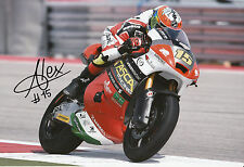 Alex De Angelis Hand Signed 2014 Moto2 Tasca Racing Suter 12x8 Photo .