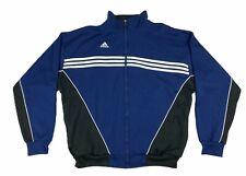 Adidas Mens Long Sleeve Zip Up Jackets Blue Black Size XL