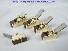 violin/viola making tool : 5pcs smooth flat bottom brass wrap blackwood planes