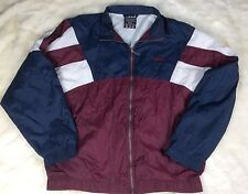 VTG Adidas Windbreaker Jacket SpellOut Logo 90's Colorblock Track Coat Xl Maroon