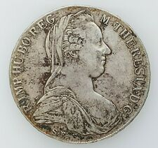Austria - M.Theresia of Habsburg, 1780 S.F. Silver 1 Thaler Coin,41mm,28gr, ¤150