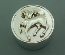 LARGE SILVER PILL BOX OR SMALL TRINKET BOX GARRARD 1997 CAPRICORN