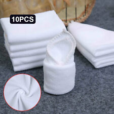 A806 9AA5 Large Microfibre Cleaning Cloths 10 Pcs/Lot White Detailing
