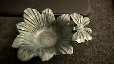 Green Flower votive/tealight candle holder/flower vase. No candle included.